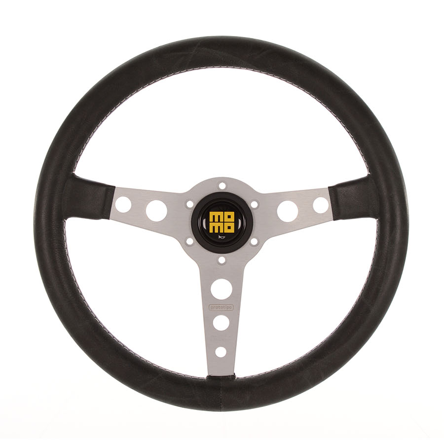 MOMO Prototipo Heritage Silver Spoke Steering Wheel