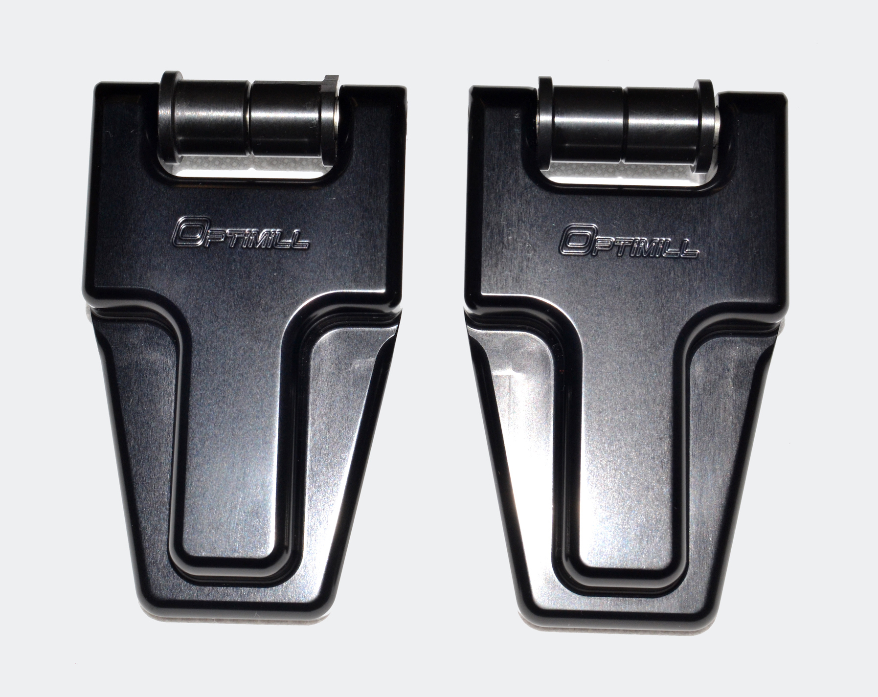 Defender Security Bonnet Hinges (pair) Black