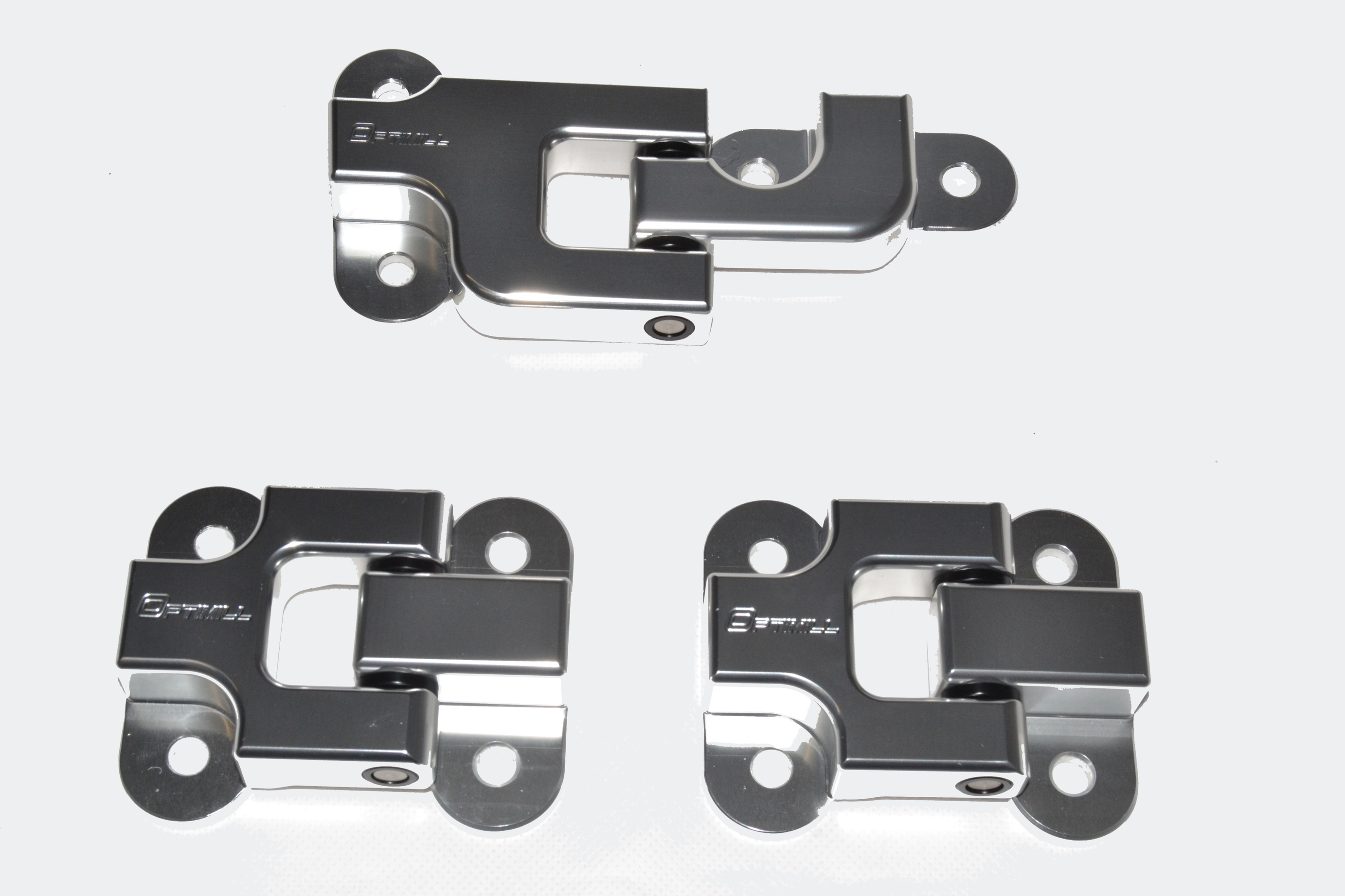 Landrover Defender Bonnet Hinges Pair Silver Optimill