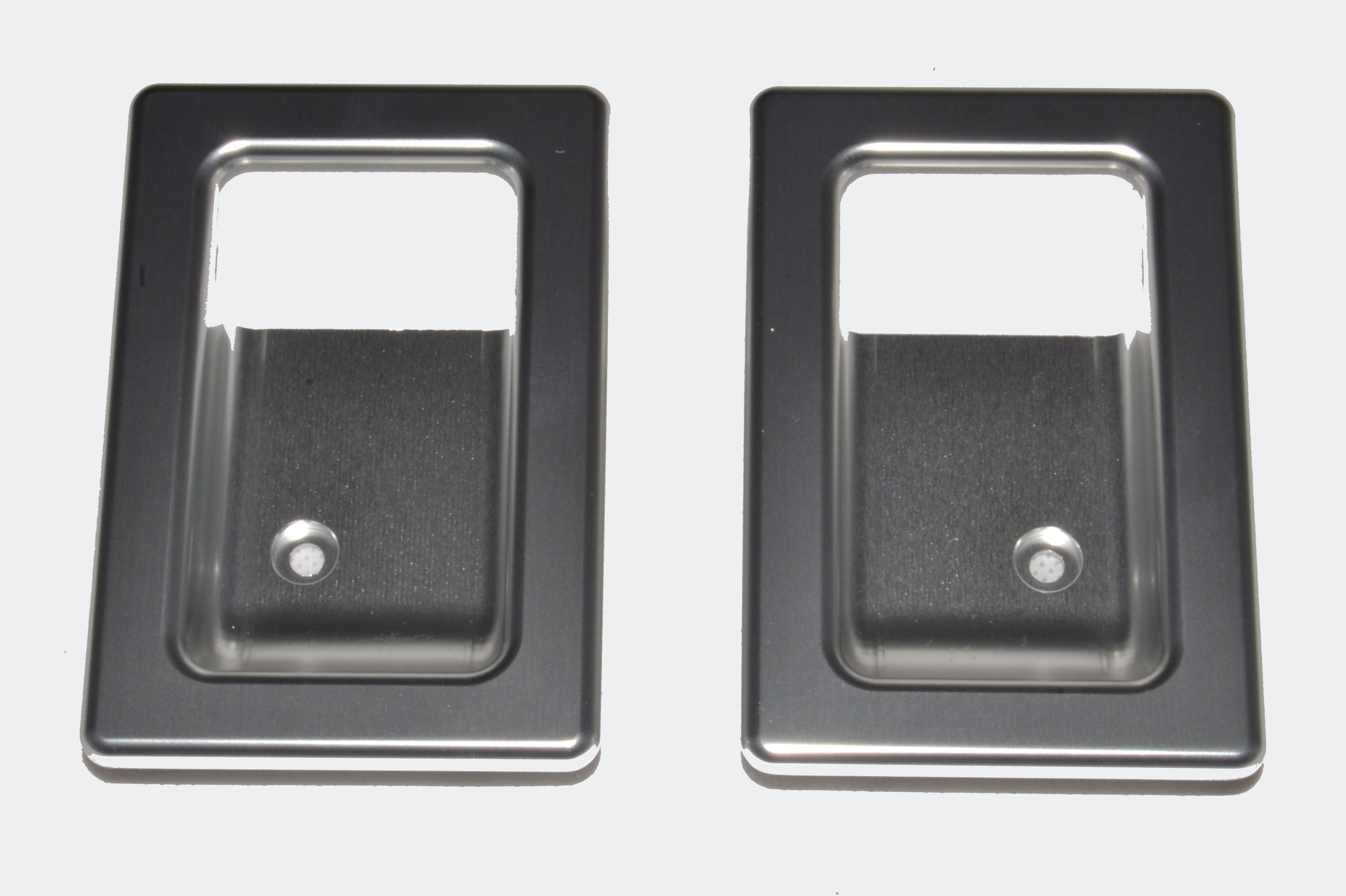 Door Lever Surrounds (pair) Silver