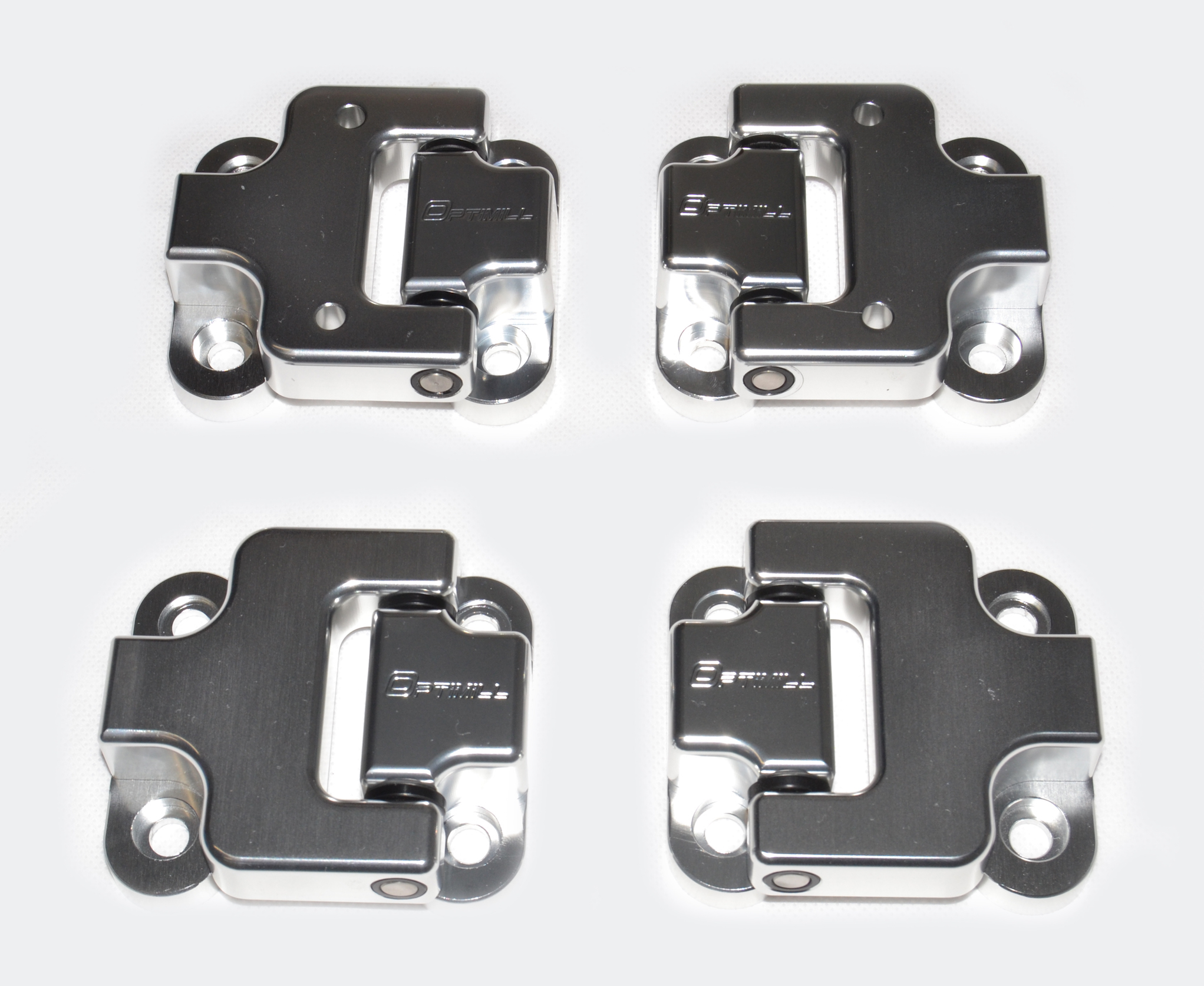 Landrover Defender Front Door Hinges 90 set of 4 in Silver