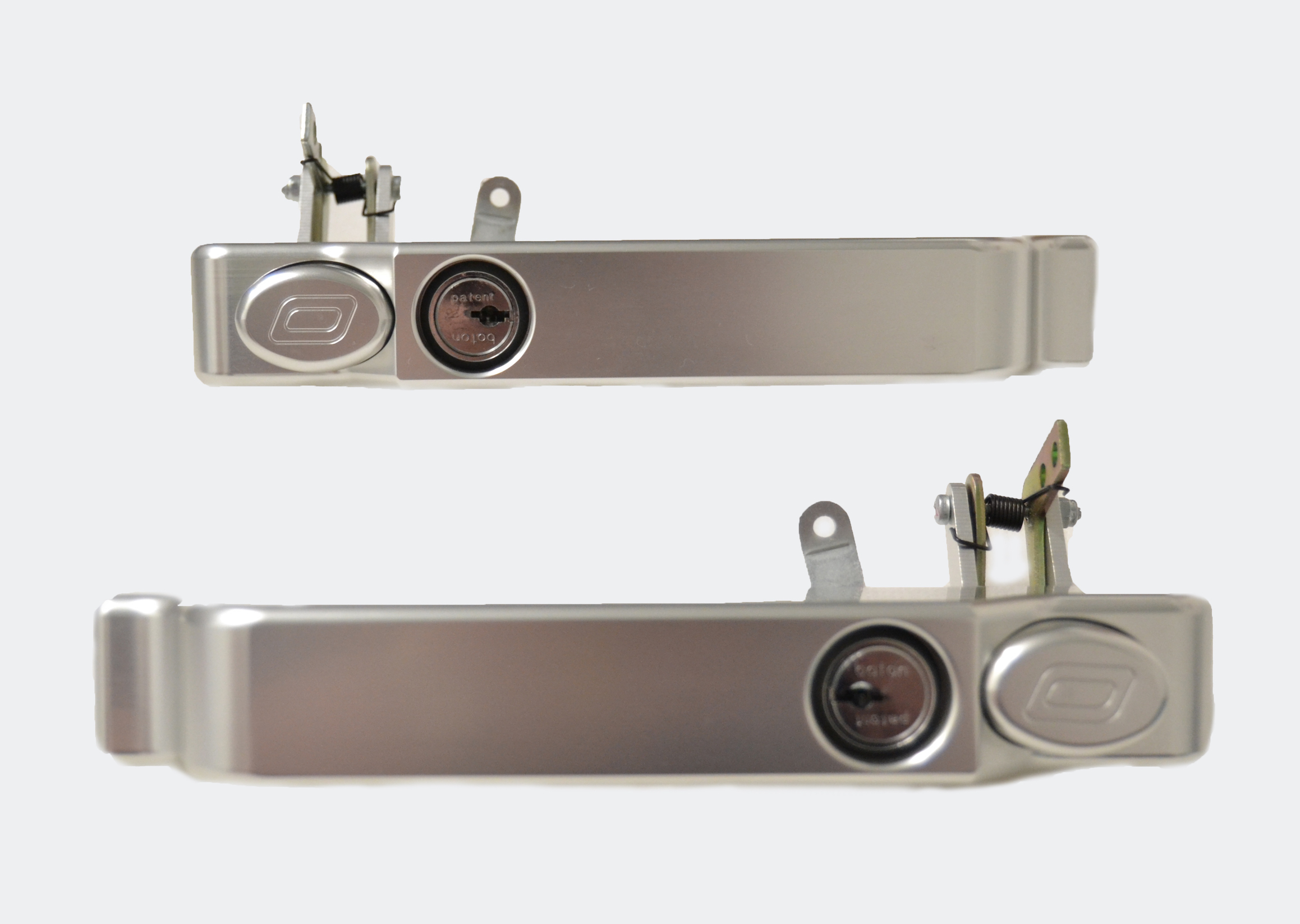 Exterior Door Handles Keyed Alike in New Grey