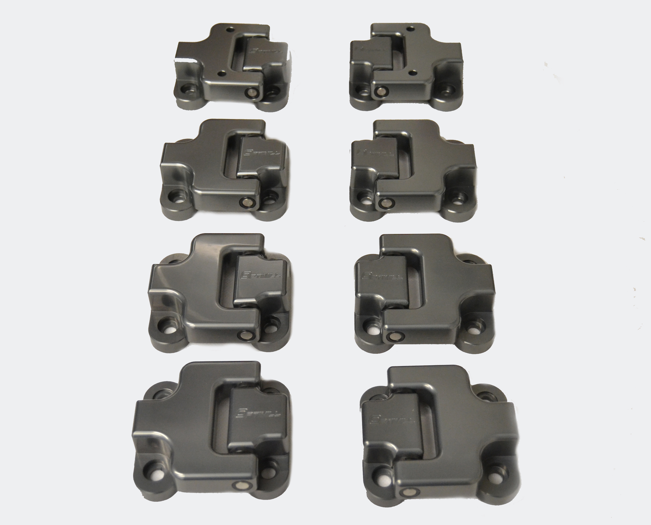 Landrover Defender Front Door Hinges 110 set of 8 in New Grey