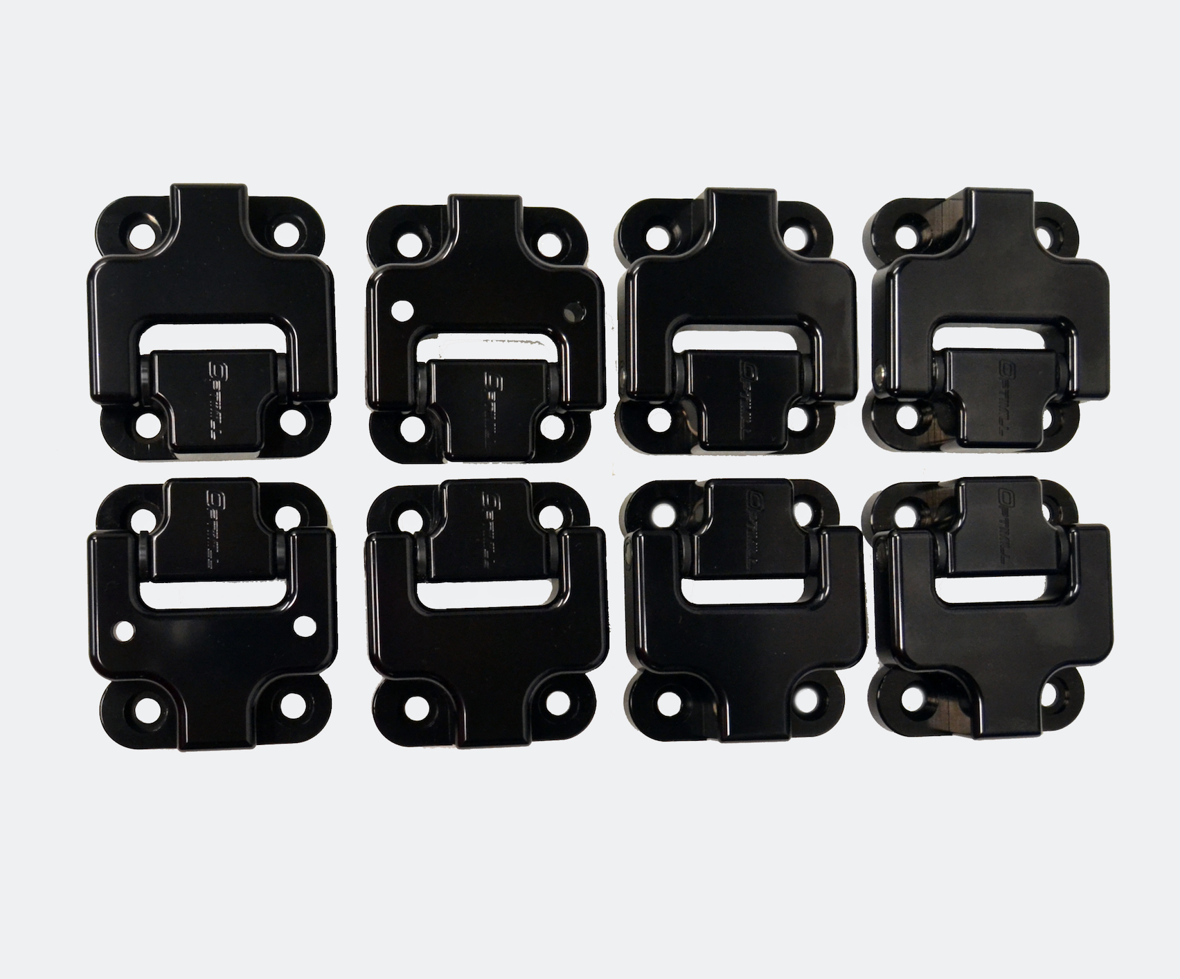 Landrover Defender Front Door Hinges 110 set of 8 in Black