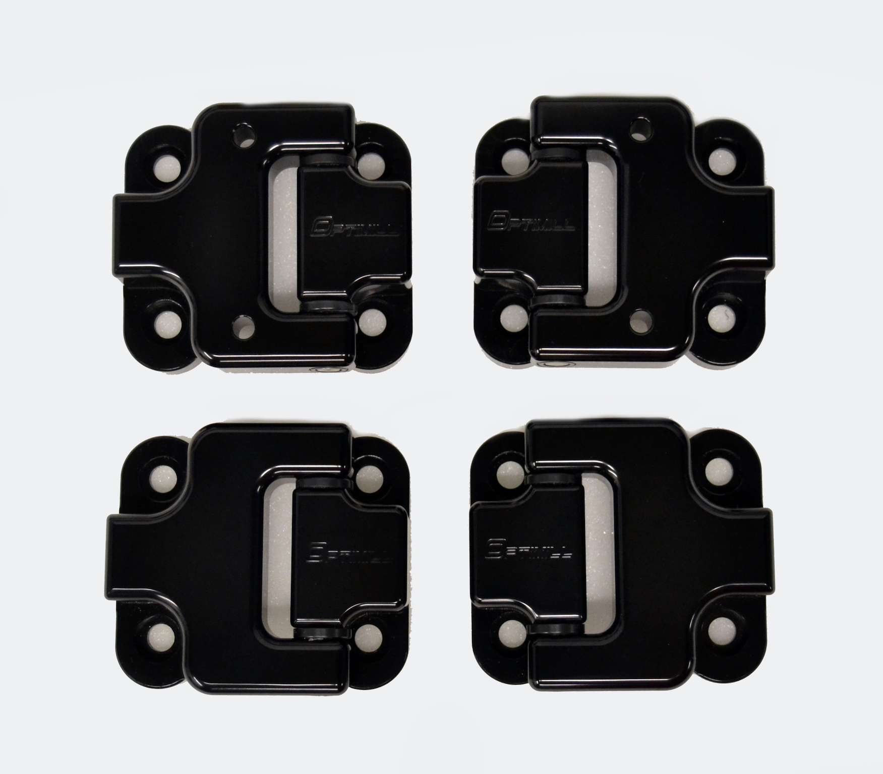 Landrover Defender Front Door Hinges 90 set of 4 in Black