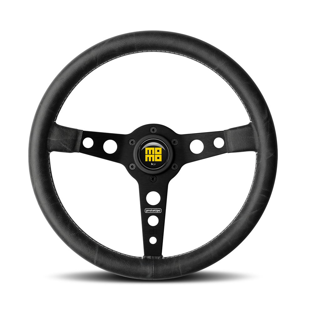MOMO Prototipo Heritage Black Spoke Steering Wheel