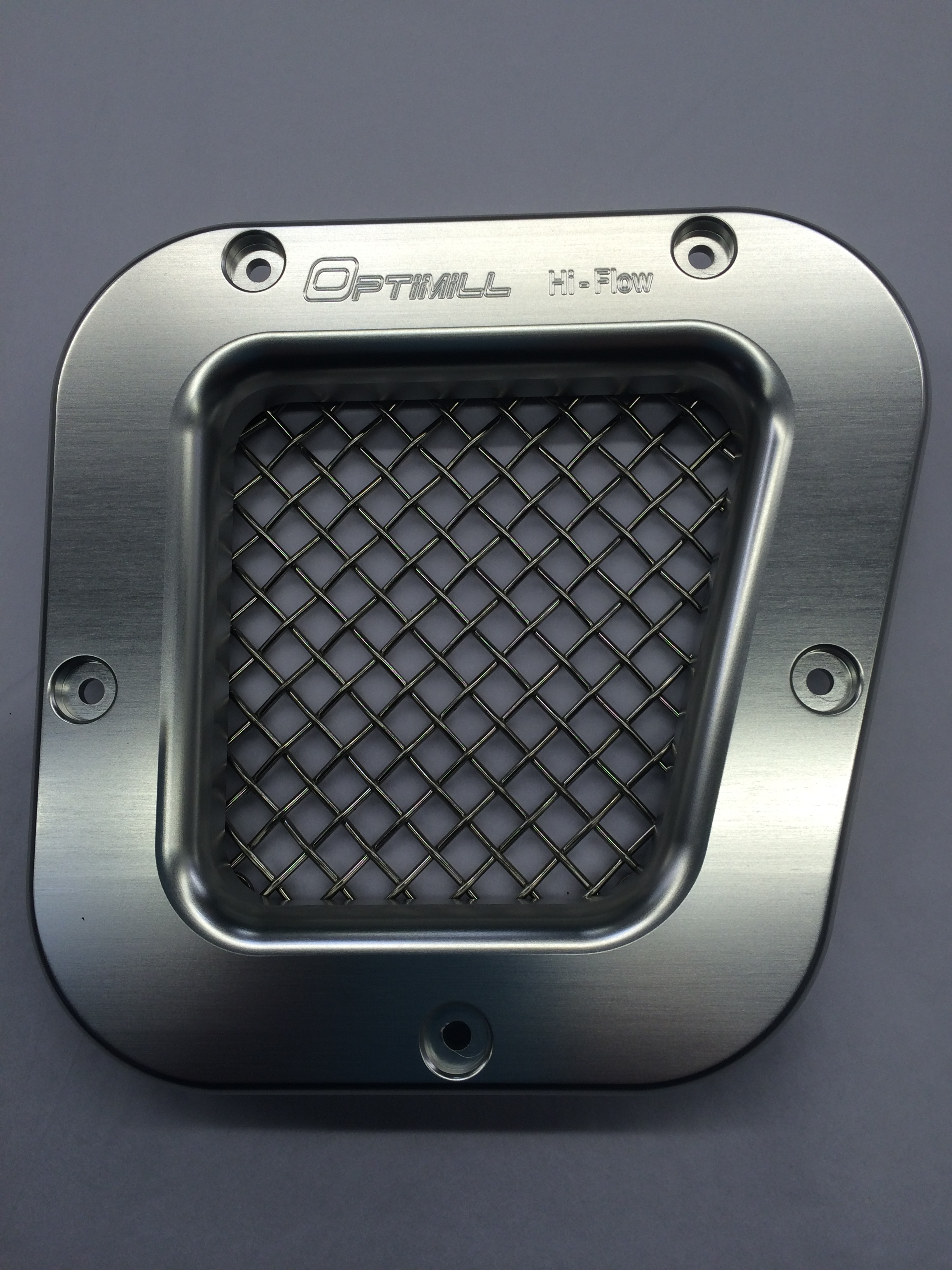 Landrover Defender Offside New Grey/Silver Mesh Vent