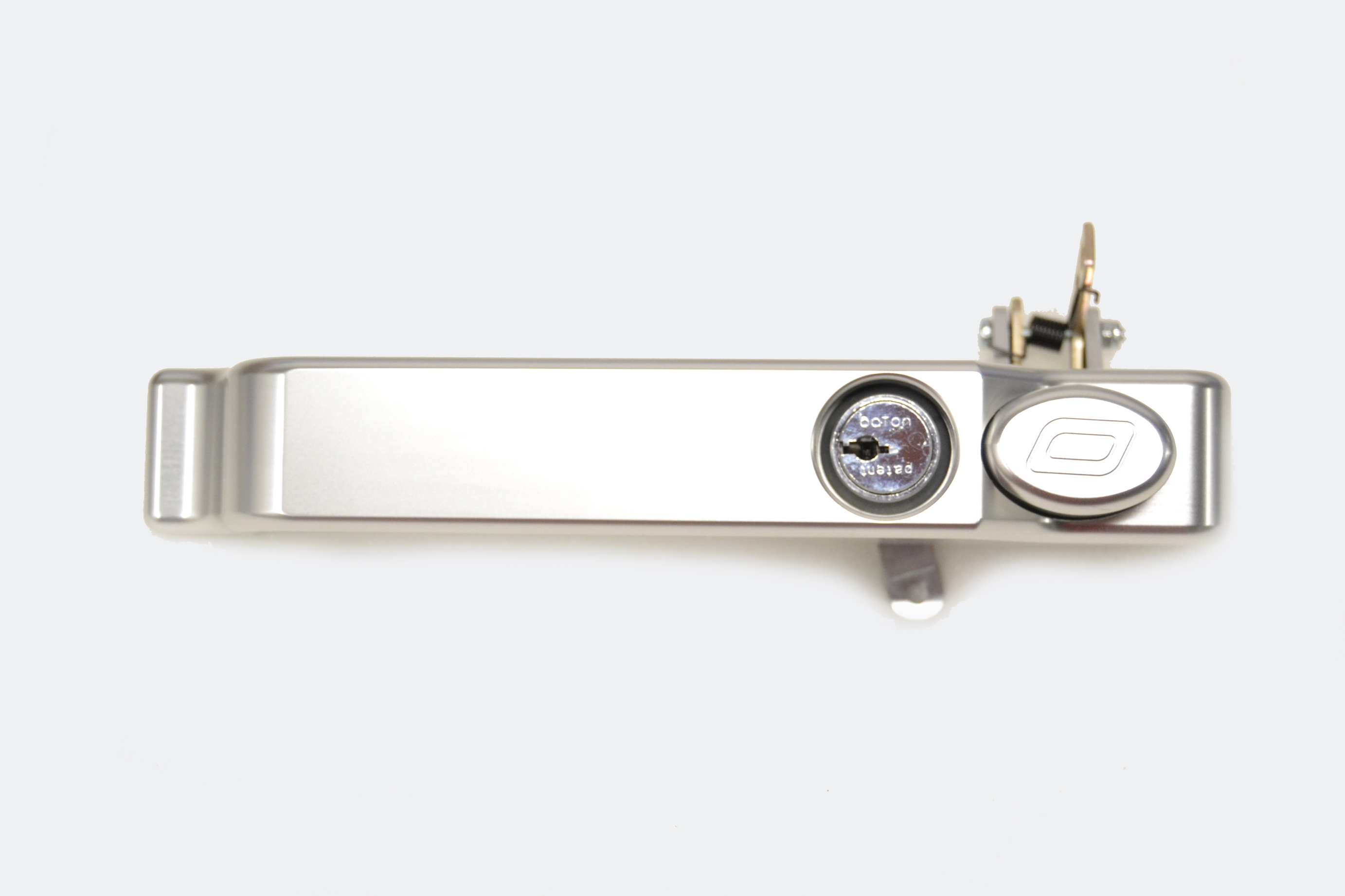 Exterior Door Handle Nearside with lock in Silver